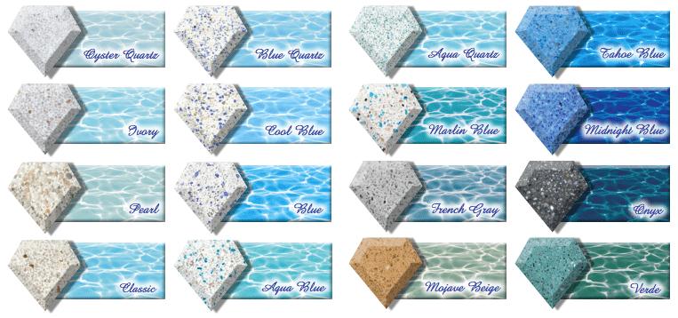 Diamondbrite Plaster Colors for Gunite Pools
